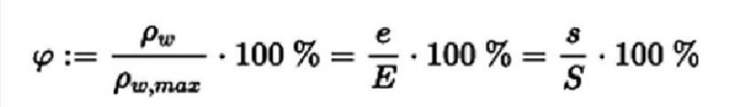 相对湿度计算公式